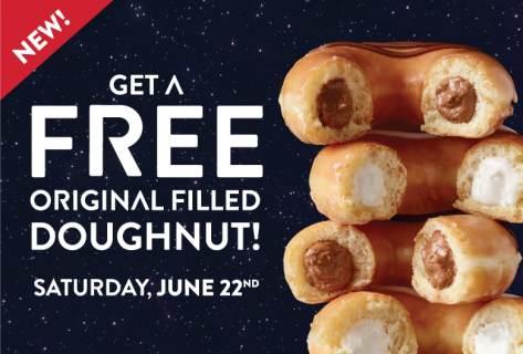 Free Krispy Kreme Original Filled Donut: Saturday June 22