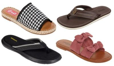 JCPenney : Up to 85% Off Sandals and Slides (Starting at ONLY $7.49!)