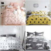Amazon : 100% Cotton Yellow White Duvet Cover with 2 Pillowcases Just AS LOW AS $19.80 W/Code (Reg : $79.99) (As of 7/20/2019 1.41 PM CDT)
