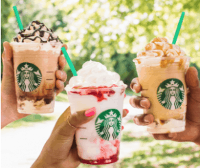 Starbucks : Buy 1 Get 1 FREE Frappuccino or Espresso (Today Only)