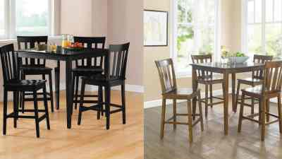 Walmart : 5-Piece Mission Counter-Height Dining Set Just $115.27-$197.73 (Reg $249)