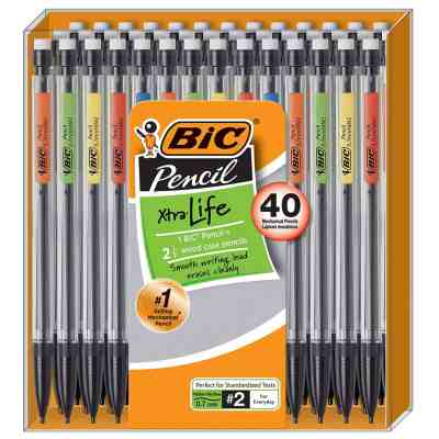 Amazon : BIC Xtra-Life Mechanical Pencil, Medium Point (0.7 mm), 40-Count Just $6.63 (As of 7/25/2019 10.49 AM CDT)