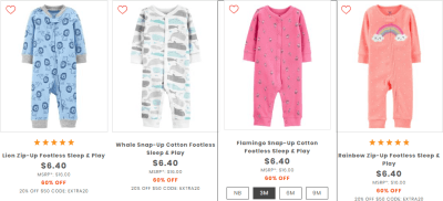 Carter's Sleep & Play Pajamas Just $5.44 Each + FREE Shipping (Regularly $16)