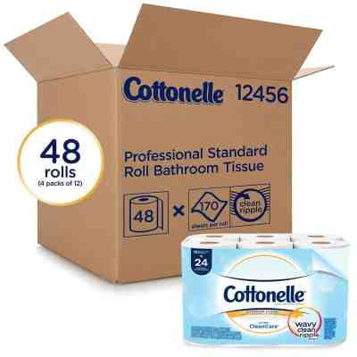 Amazon : PRIME DAY DEAL Cottonelle Toilet Paper Rolls, 48 Rolls/Case (4 Packs of 12) Just $8.49 (Reg : $33.99) (As of 7/16/2019 1.36 PM CDT)