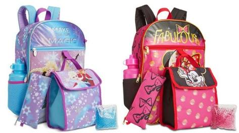 Kids Character Backpack 5-Piece Sets for ONLY $15.99 + FREE Shipping (Reg $40)