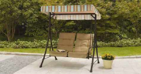 Mainstays 2-Seat Swing w/ Pullout Ottomans Just $84.97 Shipped (Regularly $175)