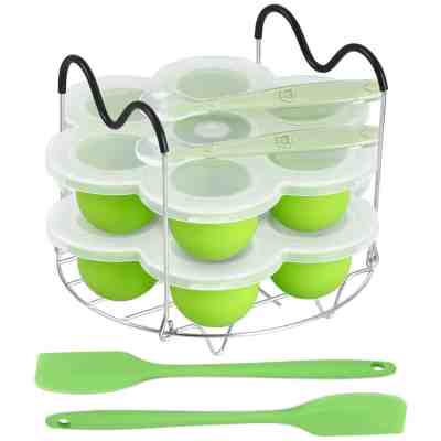 Amazon : Silicone Egg Bites Molds and Steamer Rack Trivet with Heat Resistant Handles Just $10.39 W/Code (Reg : $19.99) (As of 7/23/2019 4.01 PM CDT)