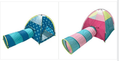 Outdoor Oasis Teepee Tunnel Pop-up Play Tent for $16.79 (Reg $80.00)