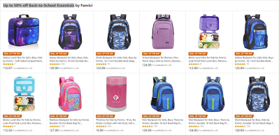Amazon : Up to 50% off Back-to-School Essentials (As of 7/24/2019 10.28 AM CDT)