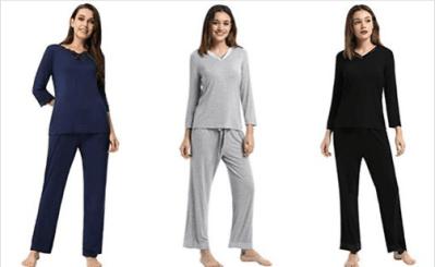 Amazon : Women 3/4 Sleeve V-Neck Satin Trim Sleepwear Just $14.49 W/Code (Reg : $28.99) (As of 7/23/2019 11.22 PM CDT)