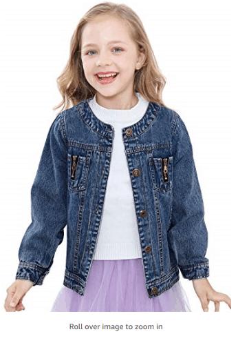 Girls Denim Jacket for $8 w/code + ✂️ COUPON