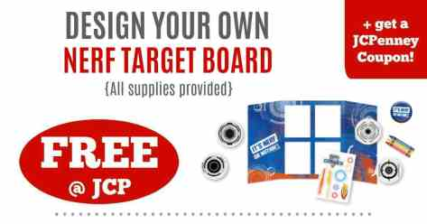 FREE Kids Club Event at JCPenney + Coupon (Nerf Target Board!)