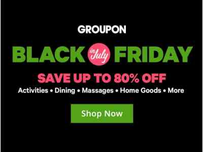 Groupon Black Friday In July Sale Live Now! ????????
