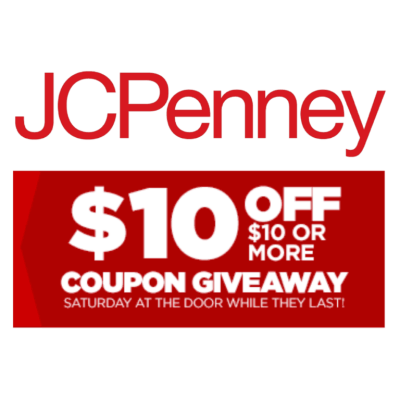 JCPenney: $10 Off $10 Coupon Giveaway Today
