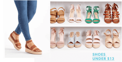 JustFab 75% Off Discount = $9.95 Shoes + Free Shipping