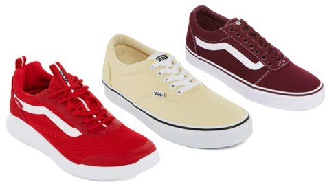 For a limited time only, visit JCPenney where they are offering a Buy One Get One 50% Off Sale on select Men's Vans Shoes! Score two pairs for as low as JUST $27.50 each! No promo codes are needed, just add two qualifying items to the cart. Shipping is free on orders over $99 or you can opt for FREE Store Pickup where available! Note that sizes are selling out really fast so Don't Miss Out!  Buy 2 Vans Doheny Mens Skate Shoes Lace-Up @$55/ea = $110 Buy One Get One 50% Off = -$55 ONLY $27.50 each or $55 for both  Buy 2 Vans Ward Mens Skate Shoes Lace-up @$60/ea = $120 Buy One Get One 50% Off = -$60 ONLY $30 each or $60 for both