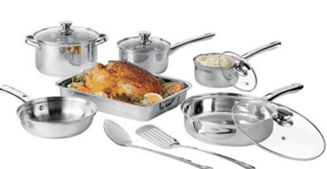 JCPenney: Cooks 21-pc. Stainless Steel Cookware Set $26.99 (Was $100)