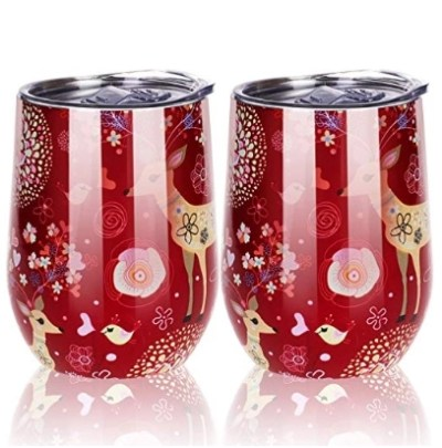 2 Pack Spill Proof Stainless Wine Tumbler with Lid for $9.74 Shipped! (Reg. Price $14.99)