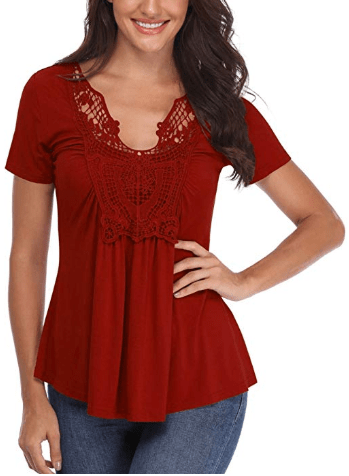 Amazon : Women's Peasant Blouses Ruched Front Tops Just $14.81 W/Code (Reg : $29.63) (As of 8/2/2019 7.25 PM CDT)