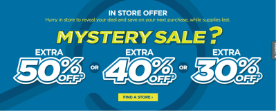 JCPenney : 30% - 50% Off Your Purchase (Mystery Coupon Giveaway)