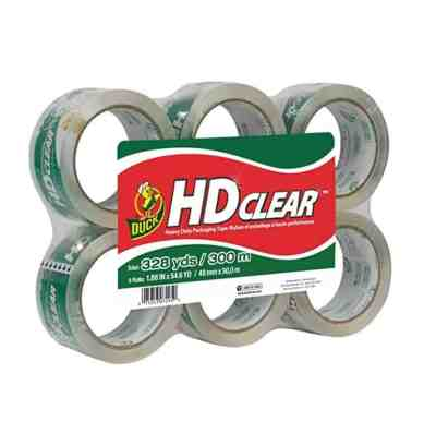 6 Rolls Duck HD Clear Heavy Duty Packing Tape Refill for $9.34 Shipped! (Reg. Price $22.99)
