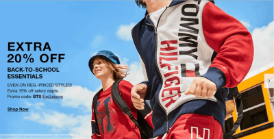 Macy's : Back to School Event at Macy's : Up to 70% off + Take an Extra 15% – 20% off!!