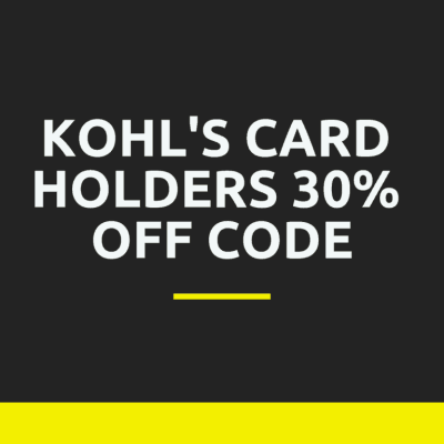 Kohl's 30% Off Code for Card Holders + EXTRA $10 off $50 + Stacking Codes!!!