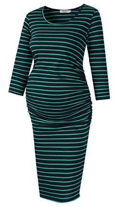 Amazon : Maternity Ruched Round Neck Dress Just $14.39 W/Code (Reg : $23.99) (As of 8/24/2019 5.46 PM CDT)