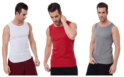 Men's Athletic Compression Base Layer Sport Tank Top for $2.80 - $5.20 w/code
