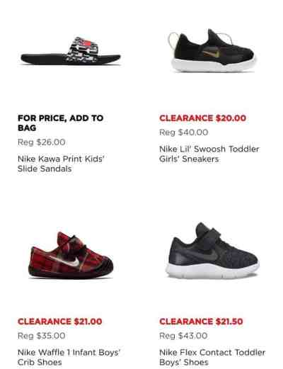 NIKE SHOES AS LOW AS $20.00!!