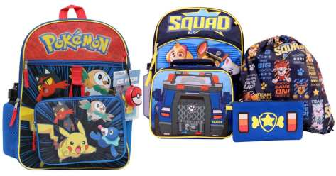 Kids 5-Piece Backpack Sets as Low as $11.67 Each Shipped for Kohl's Cardholders (Disney, Paw Patrol & More)
