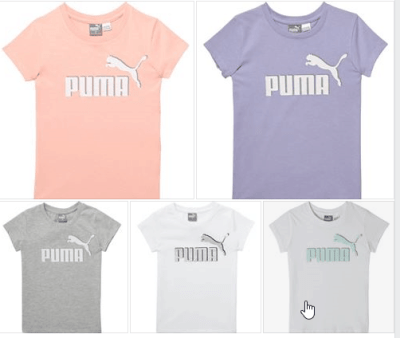 Puma Little Kids' Cotton Jersey Logo Tee for $3.99 (reg: $16) w/code (No Limit) + Free Shipping with Account