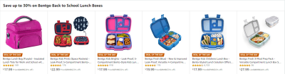 Amazon : Save up to 30% on Bentgo Back to School Lunch Boxes (As of 8/18/2019 10.06 AM CDT)