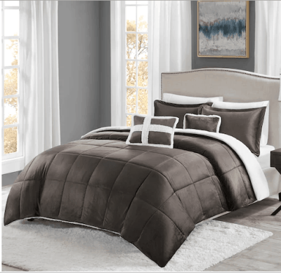 Kohl's : Sherpa Comforter Set Just $15.99 (Reg : $159.99)