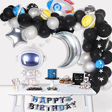 89Pcs Outer Space Party Decorations Solar  Space Party Supplies for $12.59 w/code