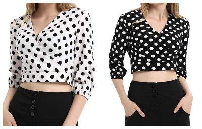 Women's Retro Polka Dots Crop tops for $4.80 Shipped! (Reg. Price $15.99)
