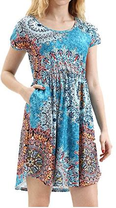 Amazon : Women's Short Sleeve Midi Dresses Just $9.66 W/Code (Reg : $22.99) (As of 8/24/2019 6.27 PM CDT)