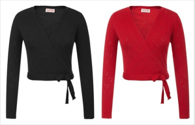 Amazon : Women's V-Neck Long Sleeve Self-Tie Surplice Wrap Front Cropped Cardigan Sweater Just $6.30-8.10 W/Code (Reg : $17.99) (As of 8/25/2019 9.02 PM CDT)