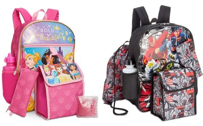*HOT* Kids' Character 5-Piece Backpack Sets ONLY $11.99 at Macy's (Regularly $40)