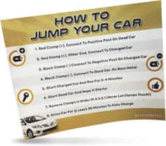 FREE How to Jump Your Car Battery Sticker!!