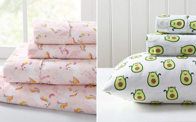 Kids' Sheet Sets ONLY $14.99 (Reg $50) – Unicorns, Avocados, Dinosaurs, Mermaids