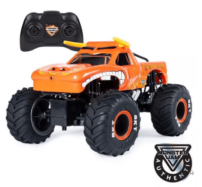 Monster Jam, Official El Toro Loco Remote Control Monster Truck, 1:15 Scale, 2.4 GHz for $6.97 (reg: $29.99)