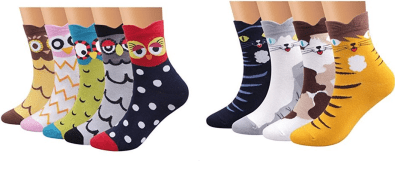 Cute Animal Patterned Socks for $3.97-3.99 (No Code Needed)