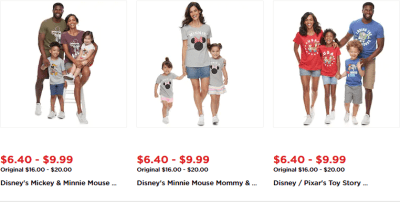 Kohl's : EPIC DEALS 40-60% OFF Disney Shirts!!
