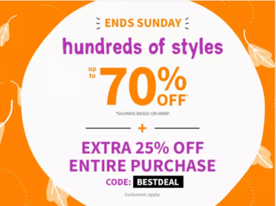 Carter's : up to 70% off clearance + Extra 25% Off W/Code!!