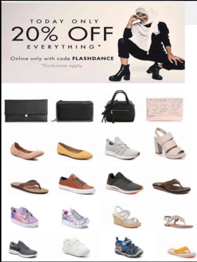 DSW : 20% Off On Everything!