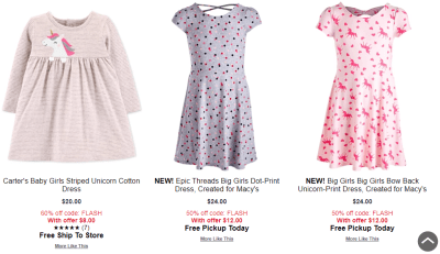 Macy's : Girls Dresses 40-60% Off Kids' Flash Sale!!