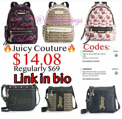 Juicy Couture Backpack on Labor Day Sale