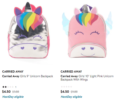 Walmart : Kids BackPacks Just $3.50 – $5 (Reg $9.98)