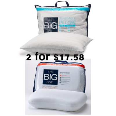 MEMORY FOAM PILLOWS (Add any 2 or mix and match) for $8.79 each when you buy 2 (Reg $49.99)